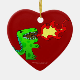 Dinosaur or Dragon by Jessica Jimerson - 2 Christmas Tree Ornament