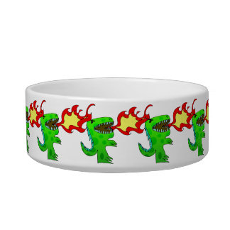 Dinosaur or Dragon by Jessica Jimerson - 2 Cat Bowls