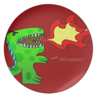 Dinosaur or Dragon by Jessica Jimerson - 2 Party Plate