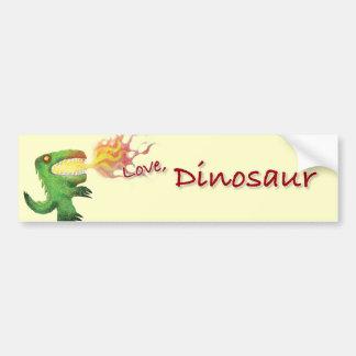Dinosaur or Dragon by little t and Abdul Rasheed Bumper Sticker