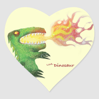 Dinosaur or Dragon by little t and Abdul Rasheed Heart Sticker