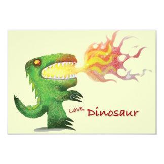 "Dinosaur or Dragon by little t and Abdul Rasheed 3.5"" X 5"" Invitation Card"