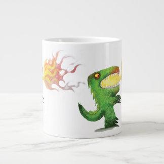 Dinosaur or Dragon by little t and Abdul Rasheed Large Coffee Mug