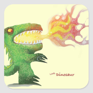 Dinosaur or Dragon by little t and Abdul Rasheed Square Sticker
