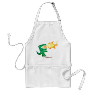 Dinosaur or Dragon by little t and Andrew Harmon Adult Apron