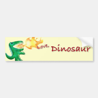 Dinosaur or Dragon by little t and Andrew Harmon Bumper Sticker