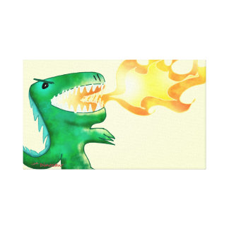 Dinosaur or Dragon by little t and Andrew Harmon Canvas Prints
