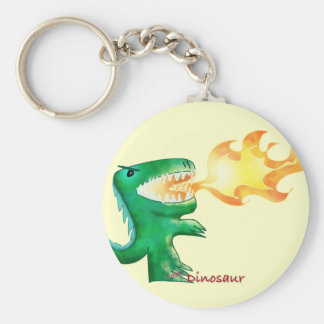 Dinosaur or Dragon by little t and Andrew Harmon Keychain