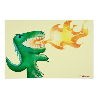 Dinosaur or Dragon by little t and Andrew Harmon Print