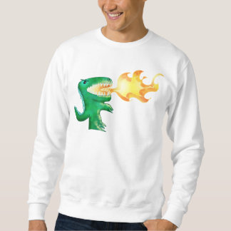 Dinosaur or Dragon by little t and Andrew Harmon Pullover Sweatshirt