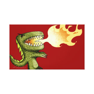Dinosaur or Dragon kids art with Loston Wallace Canvas Print