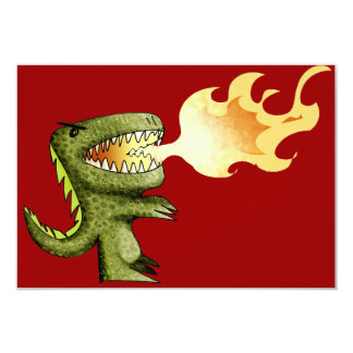 Dinosaur or Dragon kids art with Loston Wallace Card