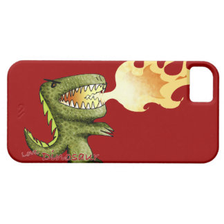 Dinosaur or Dragon kids art with Loston Wallace iPhone SE/5/5s Case