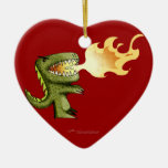 Dinosaur or Dragon kids art with Loston Wallace Christmas Tree Ornament