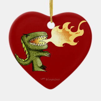 Dinosaur or Dragon kids art with Loston Wallace Christmas Tree Ornament
