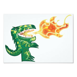 Dinosaur or Dragon kids art with Ron Leary colors Card