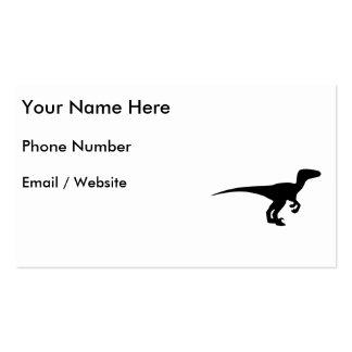 Dinosaur Outline Jurassic Era Business Card Template