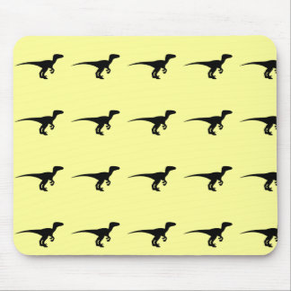 Dinosaur Outline Jurassic Era Mouse Pad