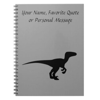 Dinosaur Outline Jurassic Era Notebook