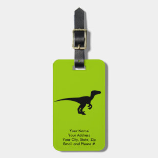 Dinosaur Outline Jurassic Era Tag For Luggage