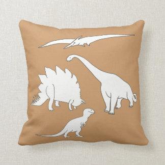 Dinosaur Outline Pillow, Pteranodon Tyrannosaurus