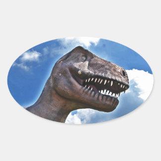 Dinosaur!!! Oval Sticker