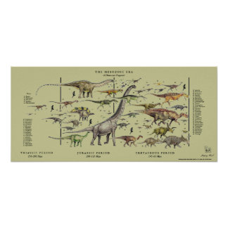 Dinosaur Pageant Poster Gregory Paul - tan back
