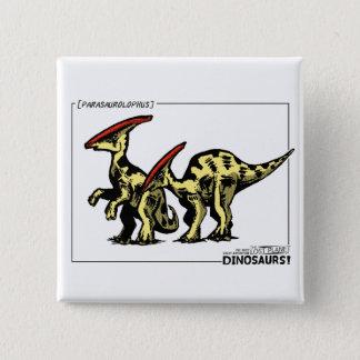Dinosaur - Parasaurolophus Button