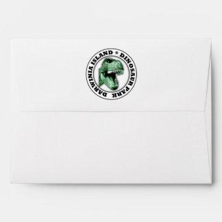 Dinosaur Park Envelope