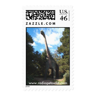 Dinosaur Park Land Postage Stamp