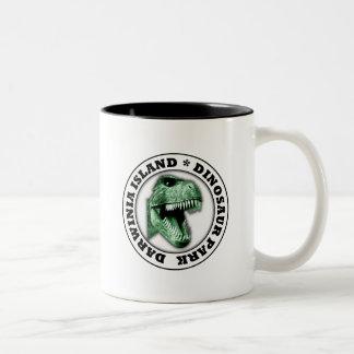 Dinosaur Park Two-Tone Coffee Mug