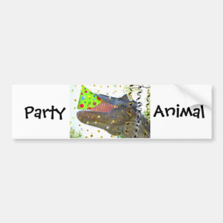 Dinosaur Party Animal Bumper Stickers