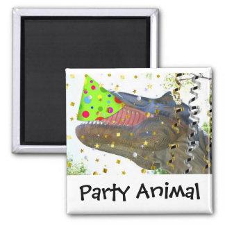 Dinosaur Party Animal Magnet