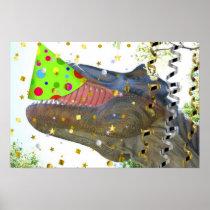 Dinosaur Party Animal Poster