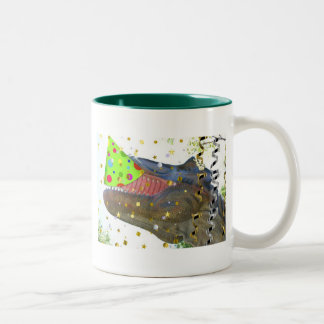 Dinosaur Party Animal Two-Tone Coffee Mug