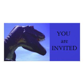 Dinosaur Party Invitation Photo Cards
