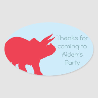 Dinosaur Party Sticker