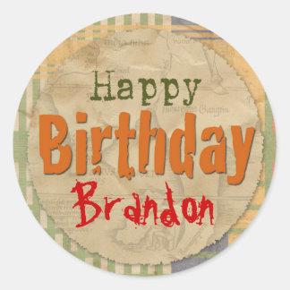 Dinosaur Party Sticker - Happy Birthday