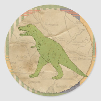 Dinosaur Party Sticker - T-Rex