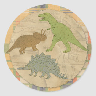 Dinosaur Party Sticker - TRex and More Dinosaurs