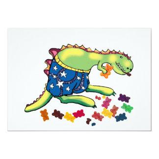 dinosaur party thankyou 13 cm x 18 cm invitation card