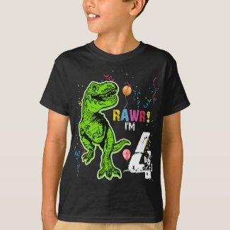 Dinosaur Personalized Birthday T-Rex T-Shirt