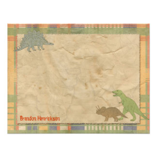 Dinosaur Personalized Note Cards