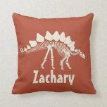 Dinosaur Personalized Throw Pillow