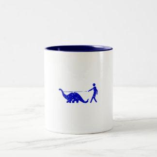 DINOSAUR PET WALKER LEASH Two-Tone COFFEE MUG