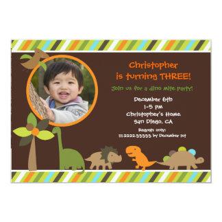 Dinosaur Photo Birthday Party Invitation