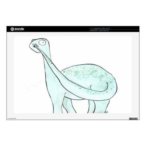 "Dinosaur Picking His Nose Decal For 17"" Laptop"