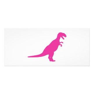Dinosaur Pink Rack Card