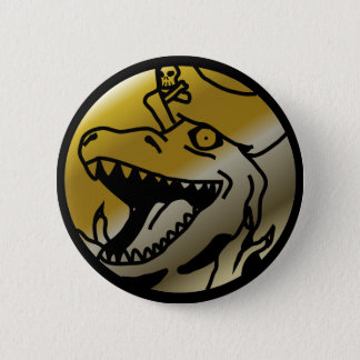 Dinosaur Pirate Button