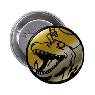 Dinosaur Pirate Button